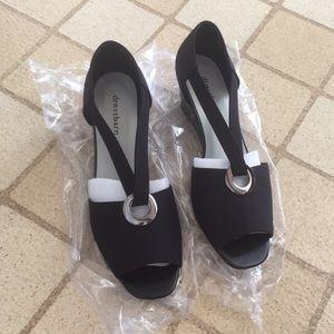 Black Sandal Low Heels